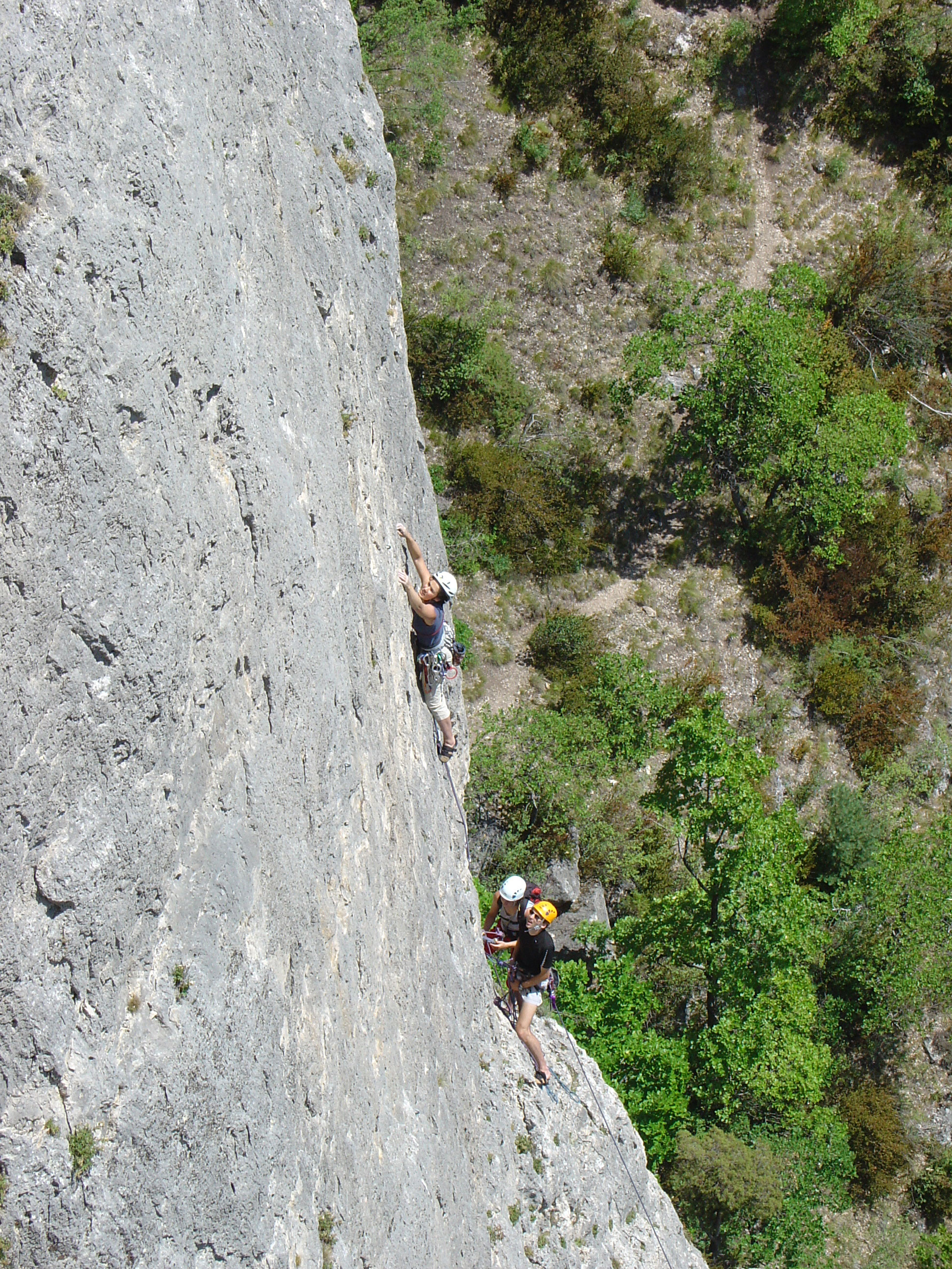Escalade dans les gorges du Tarn.