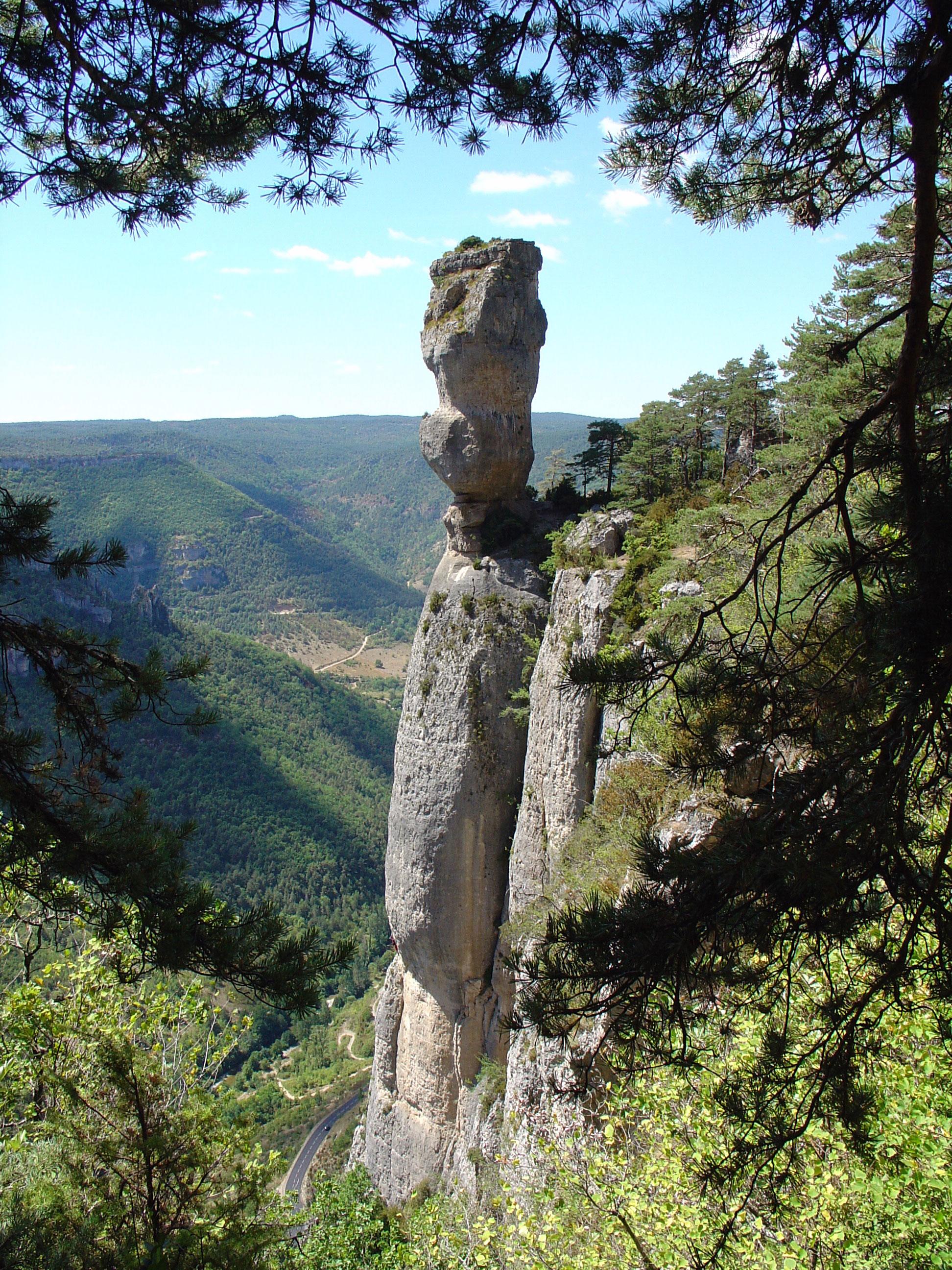 Vase de Sèvres au confluent des gorges du Tarn et des gorges de la Jonte.
